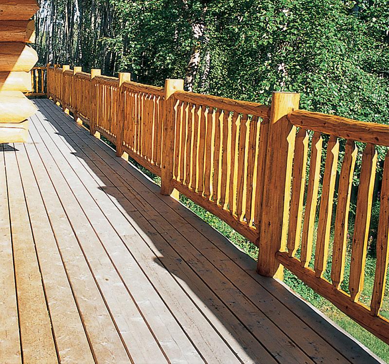 log railing
