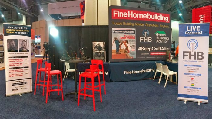 FineHomebuilding's Booth at IBS-2020