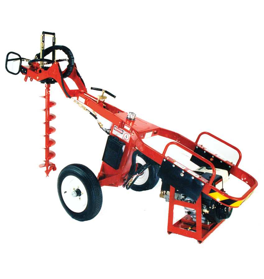 One-person power auger (towable)