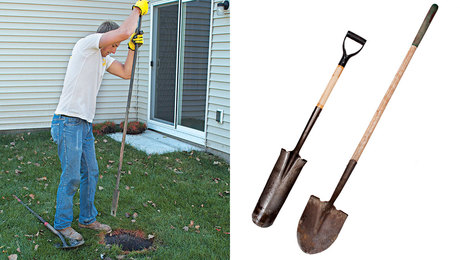 Hole digging tools for deck building