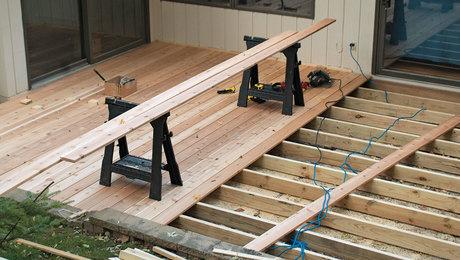 installing wood decking