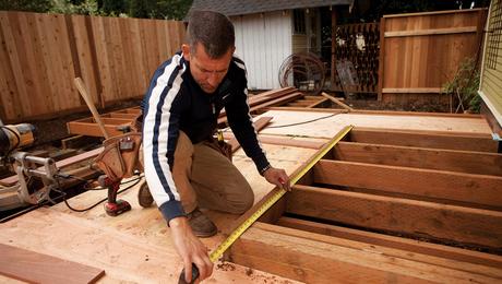 installing picture frame deck