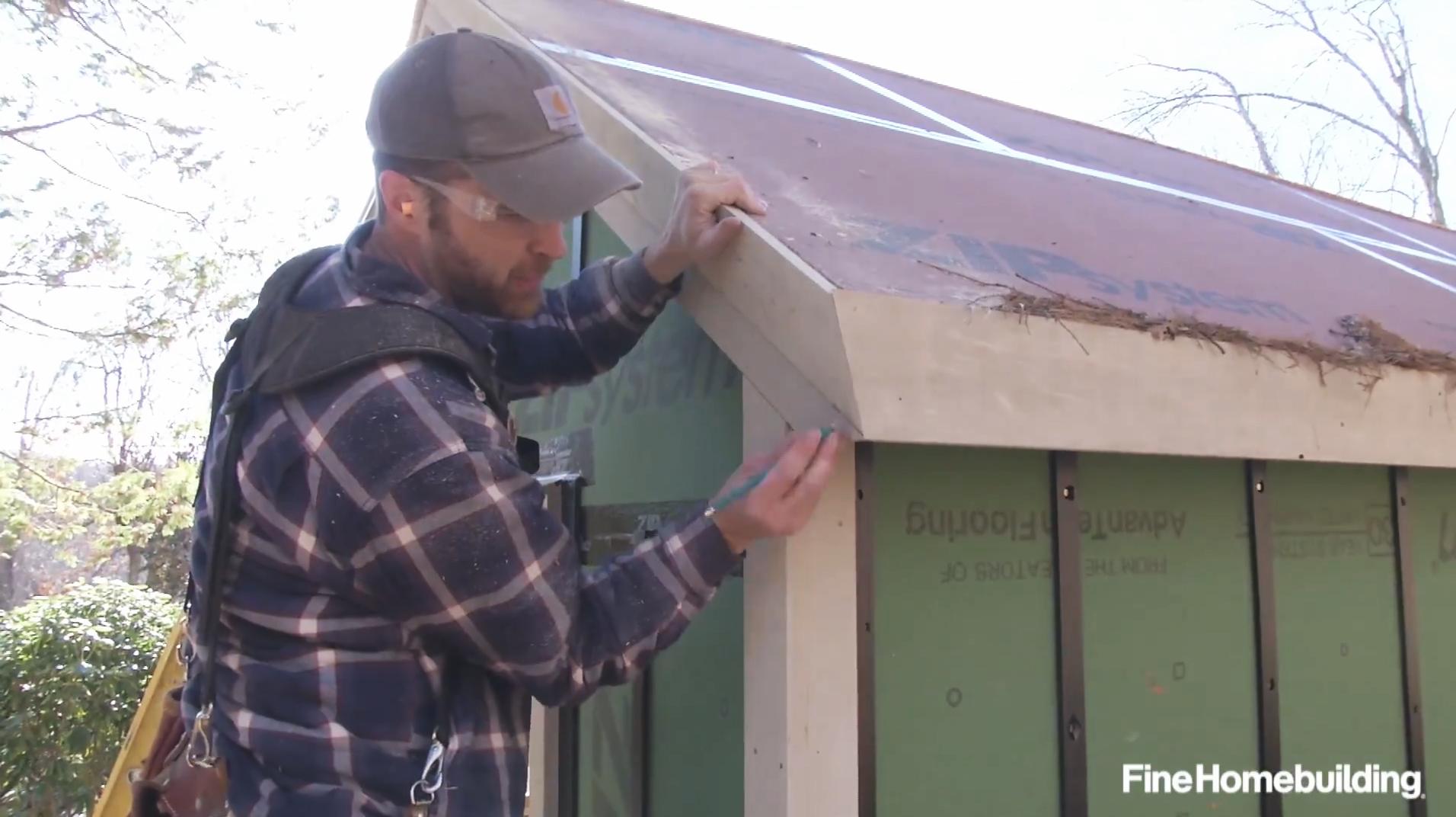 Installing Shaker Style Roof Trim Fine Homebuilding