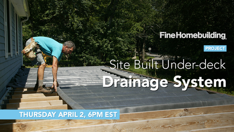 how to install under-deck drainage