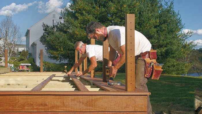 how to install wood decking