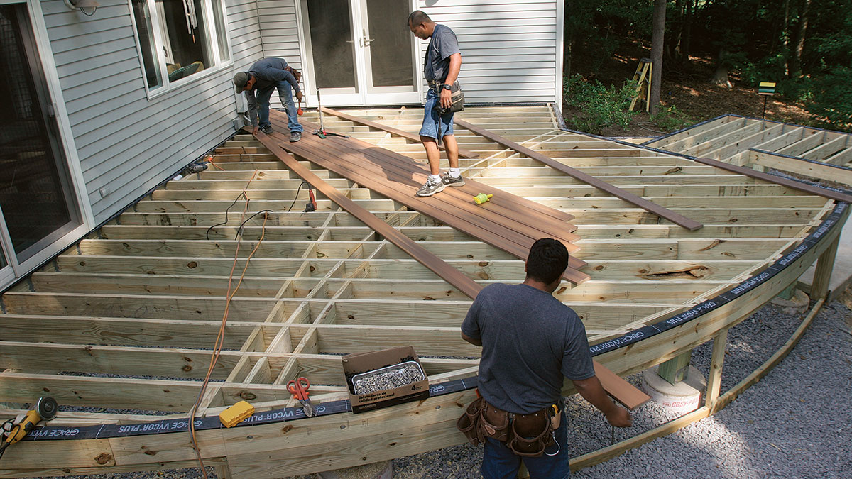 lay out decking