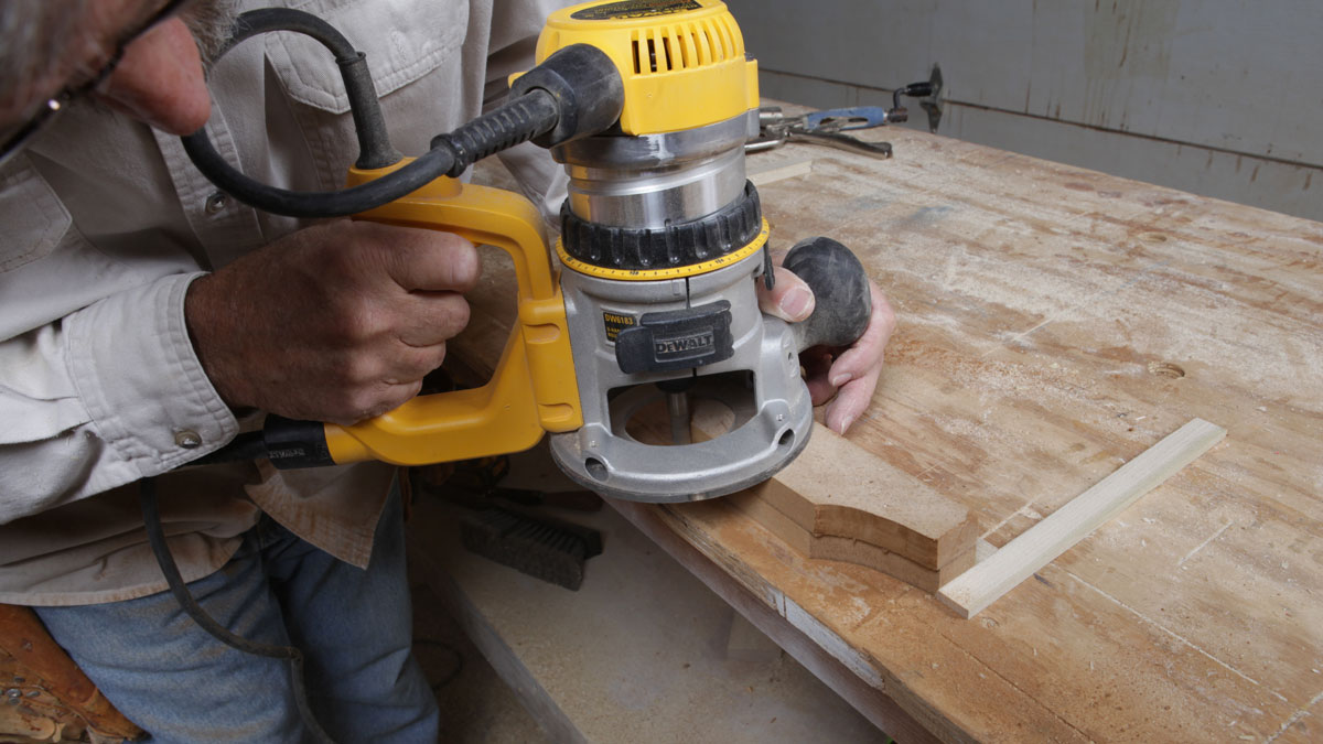 duplicate MDF template to make stepped corbel router jig