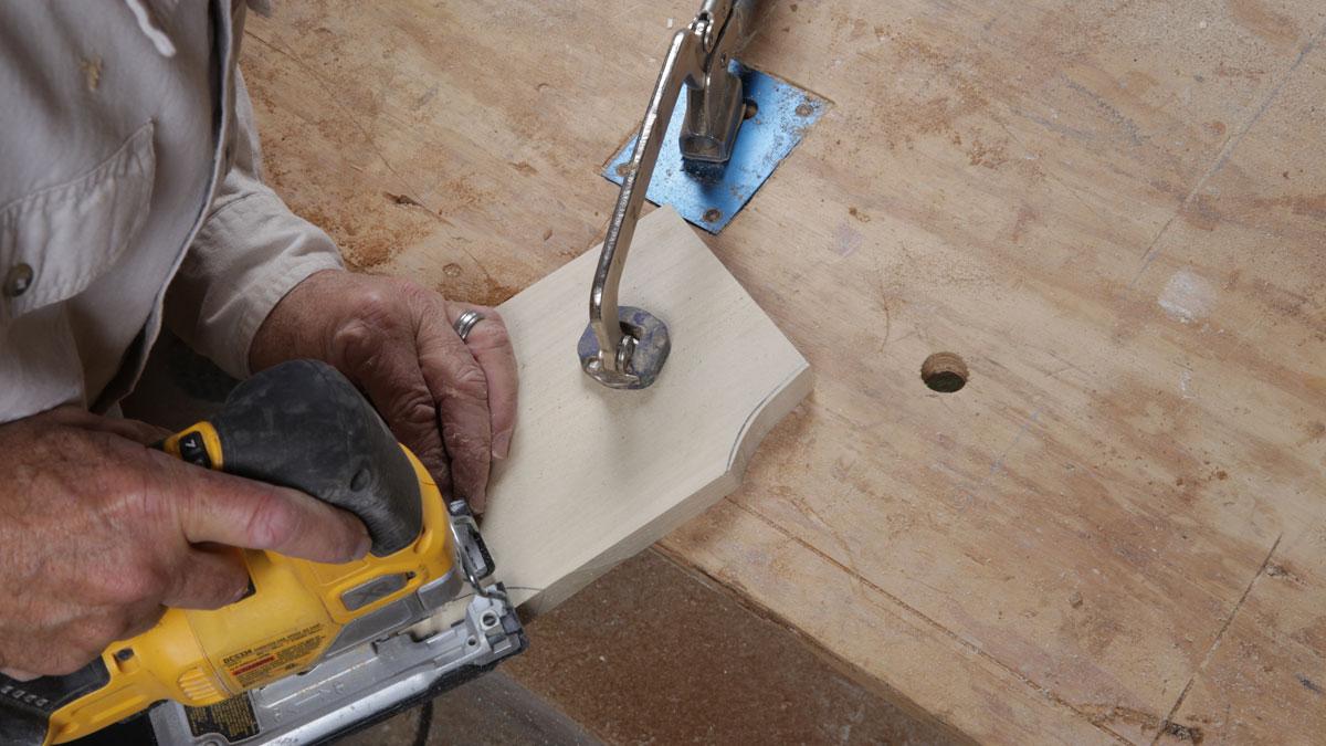 rough cut corbels with a jigsaw