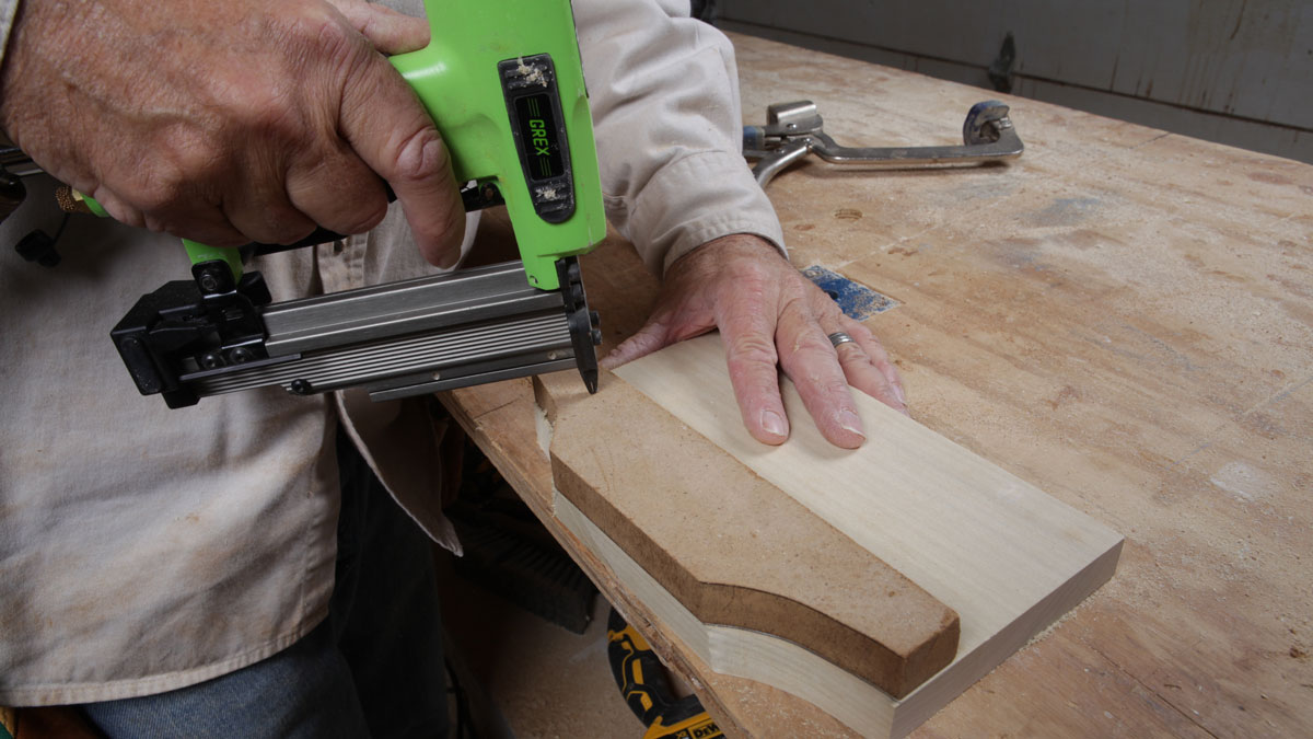 pinning corbel parts to the router jig