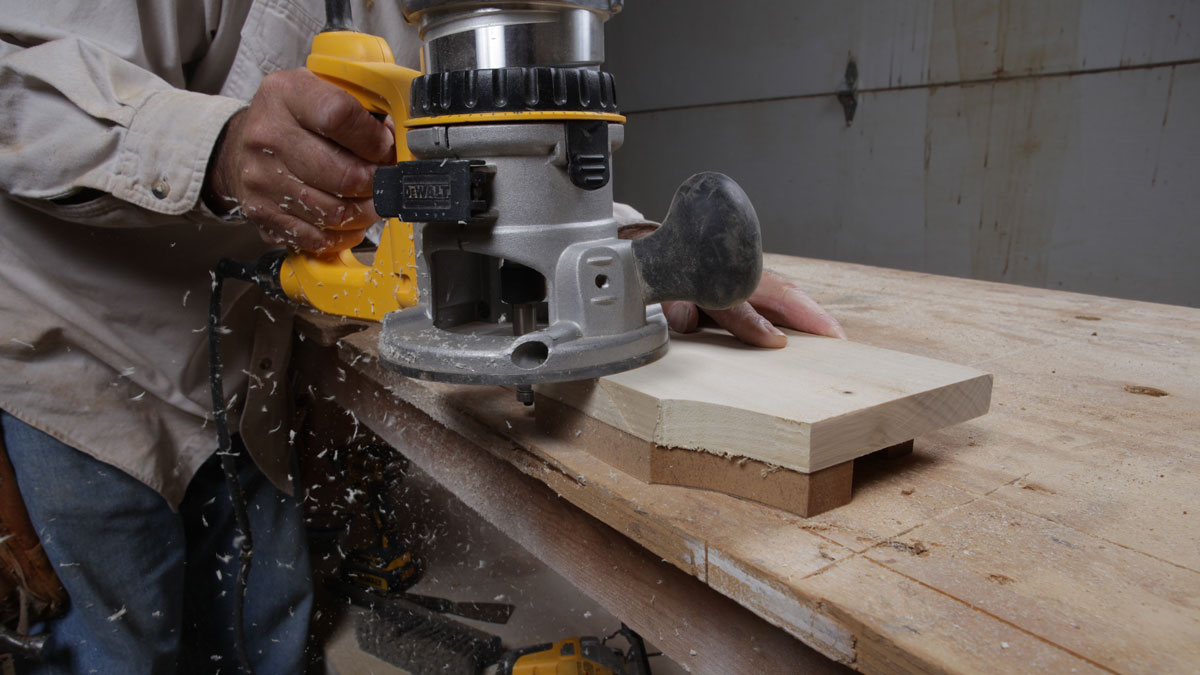 using a router jig to shape decorative corbels