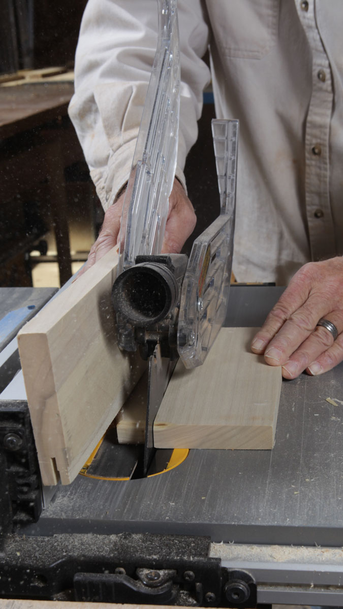 cut corbels to size using a table saw