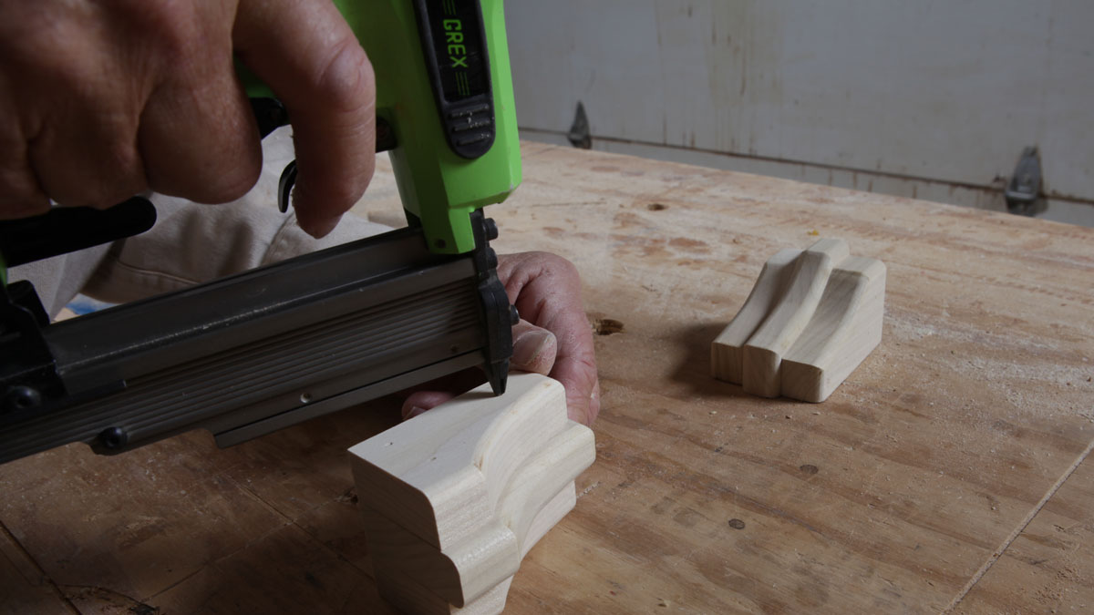 assembling the stepped corbels