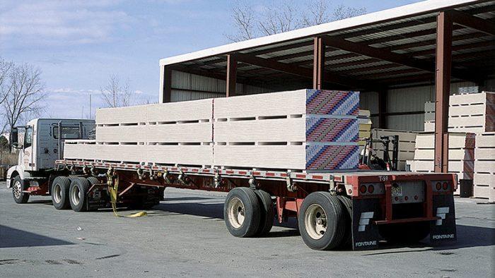 truckload of drywall