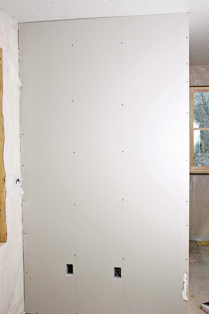 Avoid drywall seams when possible