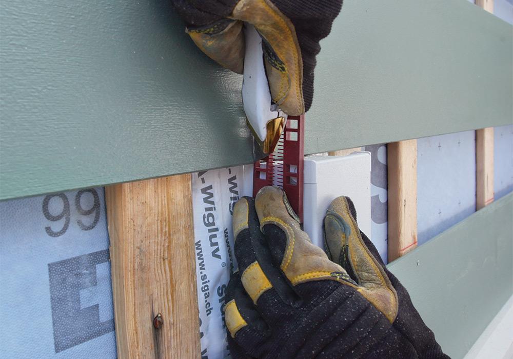 measuring siding