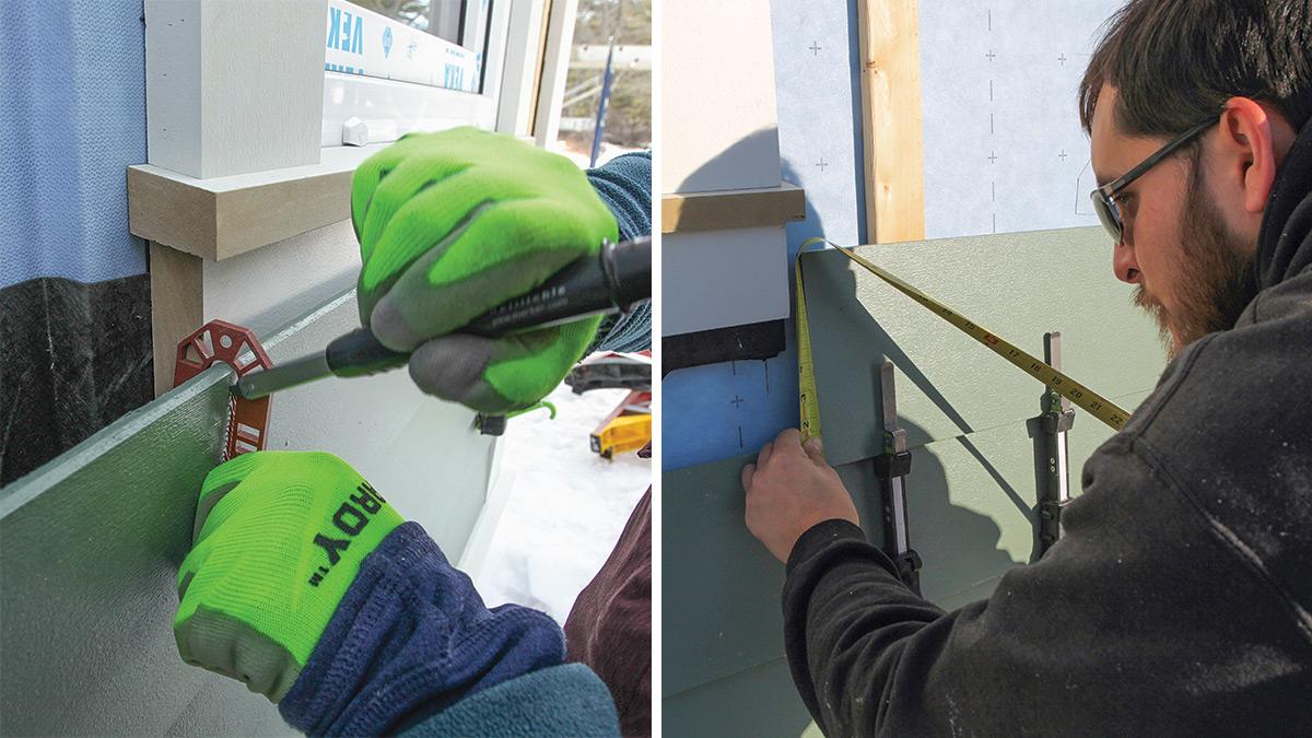 mark siding for cutouts around windows