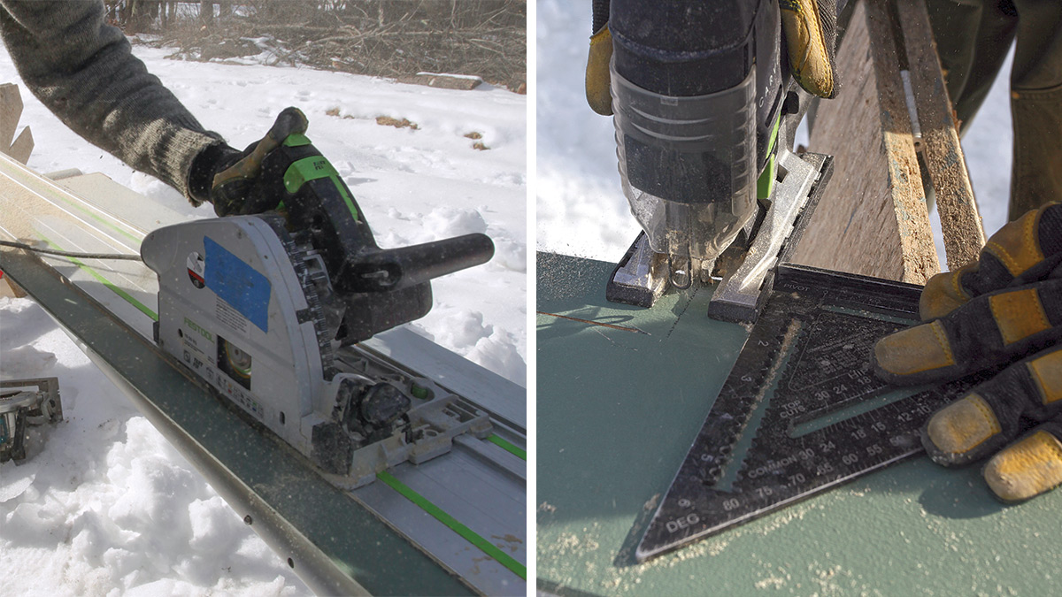 rip and jig lap siding with a track saw and jigsaw