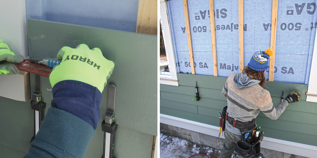 cutting and marking the lap siding