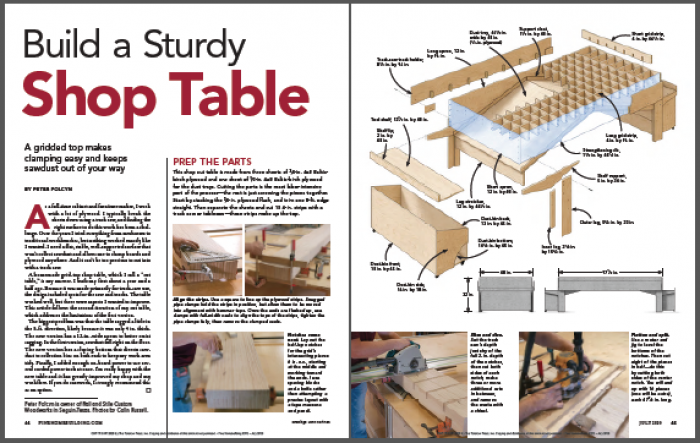 build a sturdy shop table