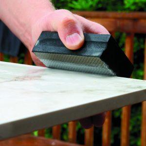 break tile edges