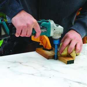drill holes to relieve pressure