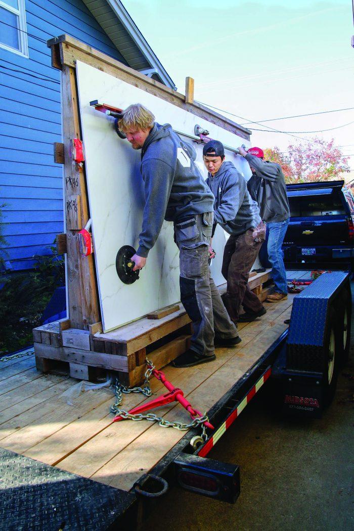 transporting big tile slabs