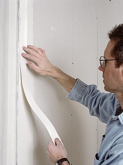 Paper tape reduces cracks