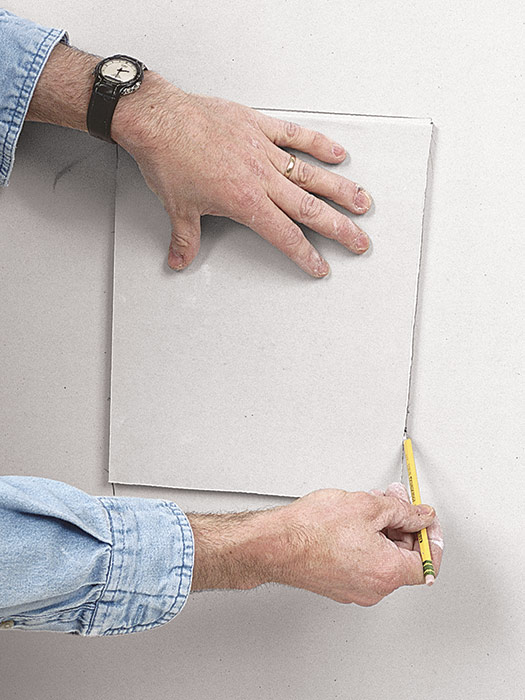 Position a drywall patch