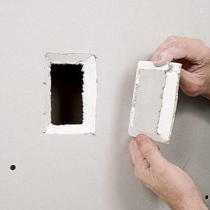 Patching Unused Outlets: Method One Remodeling often means moving outlets. You can patch the holes left from retired outlets easily, using just a scrap of drywall, tape, and a little joint compound.