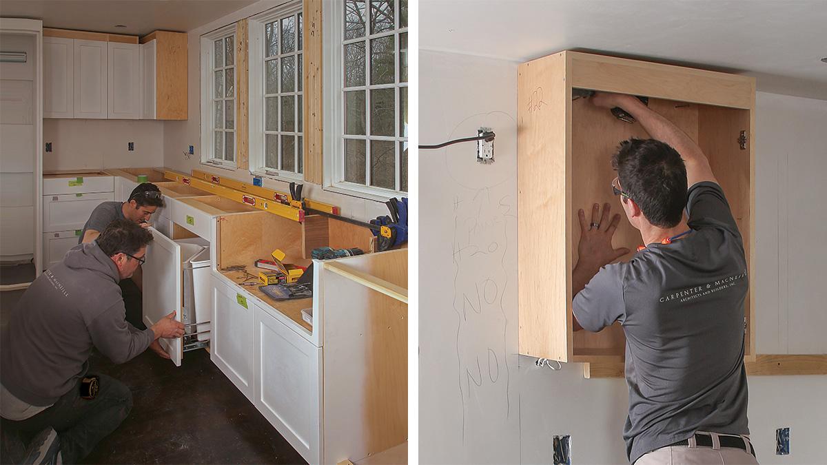 Installing Frameless Cabinets Fine Homebuilding