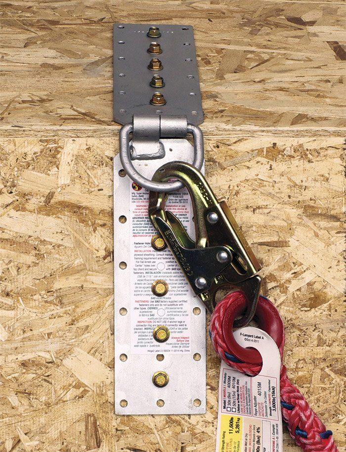 Hinge-style metal anchor