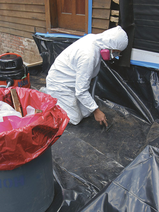 lead-contaminated materials outdoors