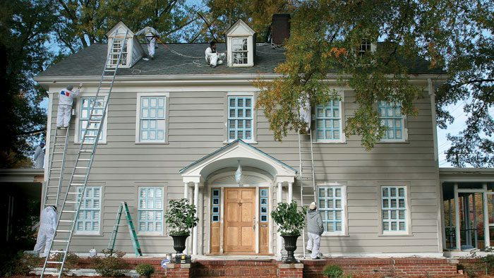 how to paint siding and exterior trim