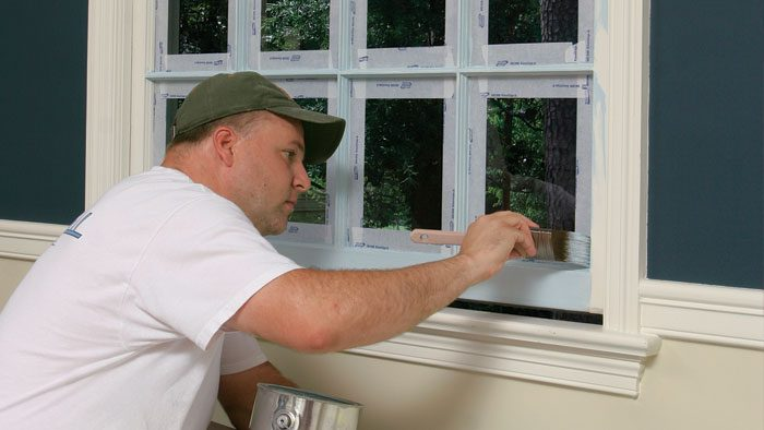 how to paint windows and doors