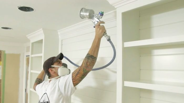 how to spray interior paint