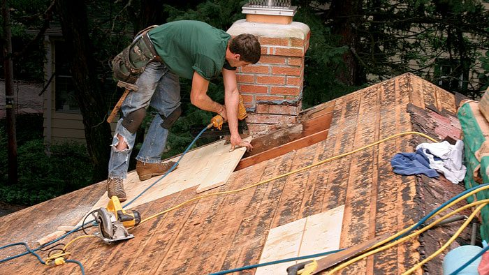 install a new roof on a house