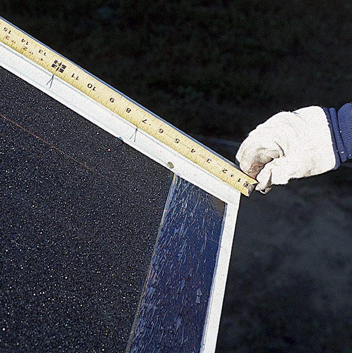 tape measure overhang