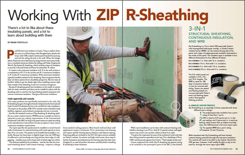 Working With ZIP R-Sheathing