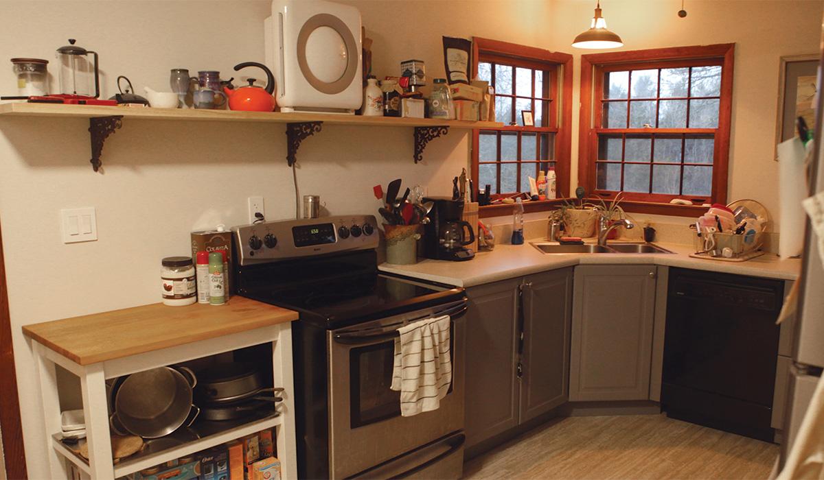 kitchen sink in the corner