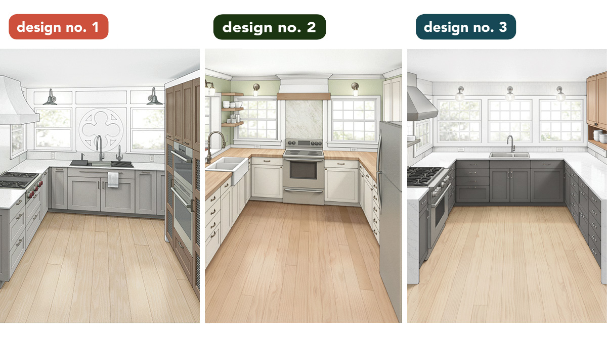 One Bad Kitchen Three Good Designs Fine Homebuilding