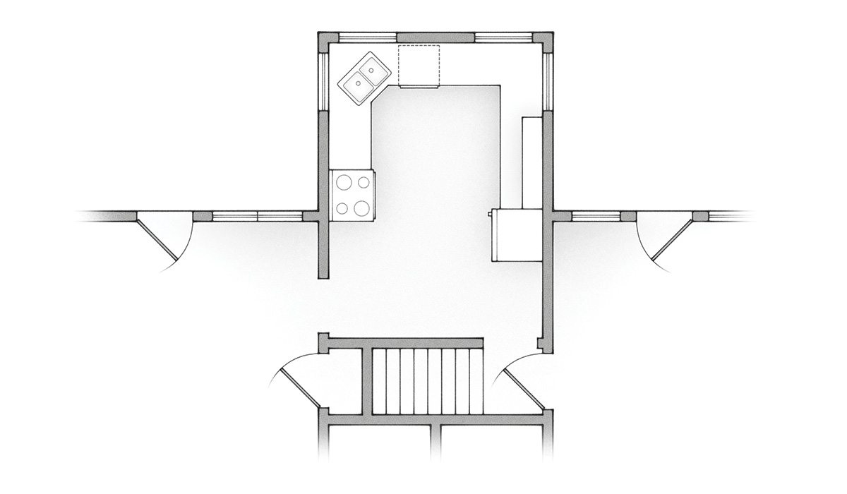 old kitchen floor plan