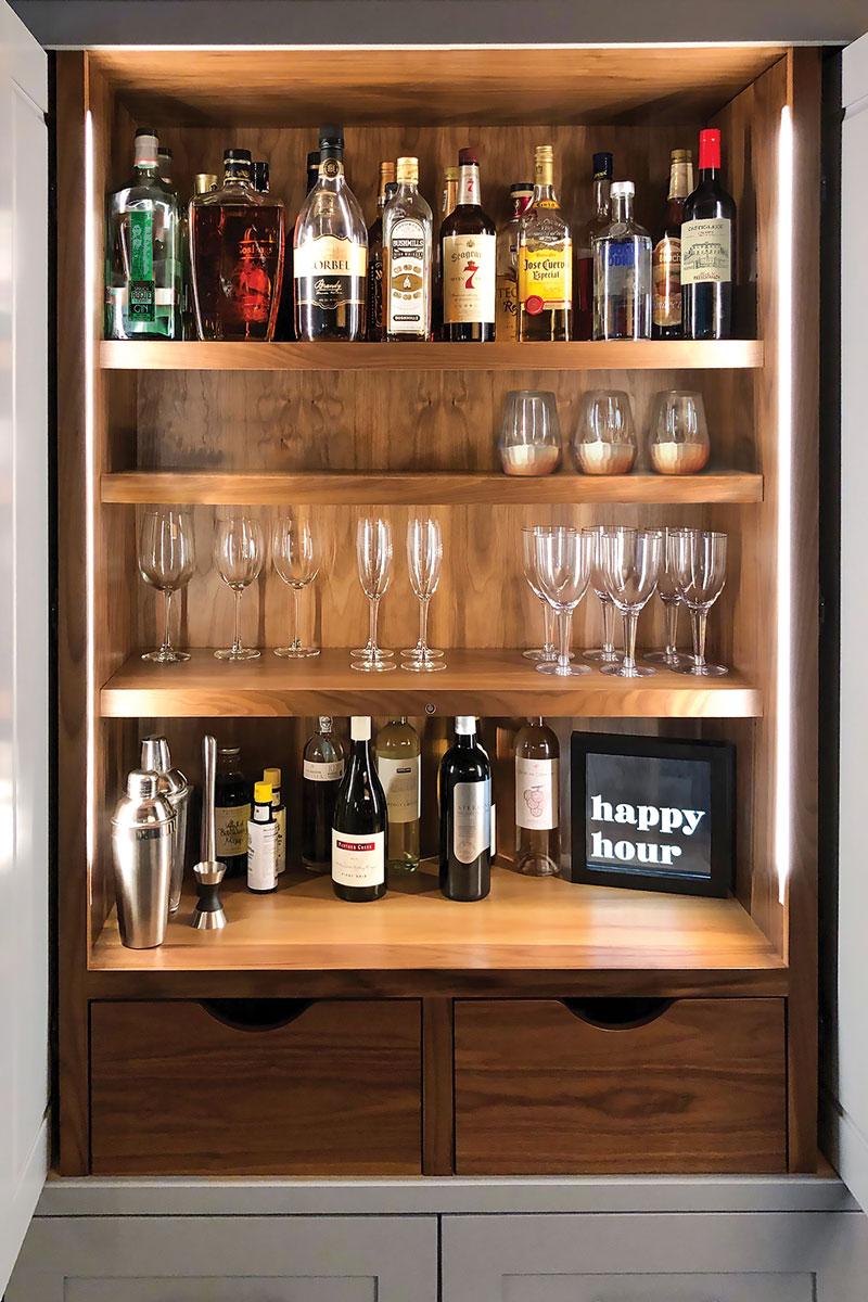 Wooden bar nook