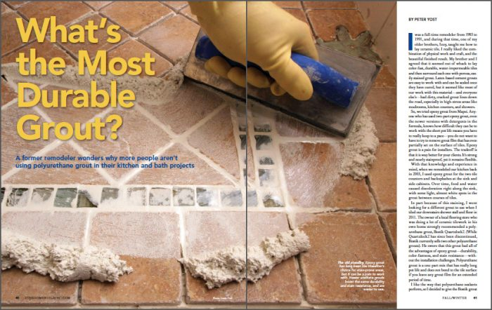 What's the Most Durable Grout?