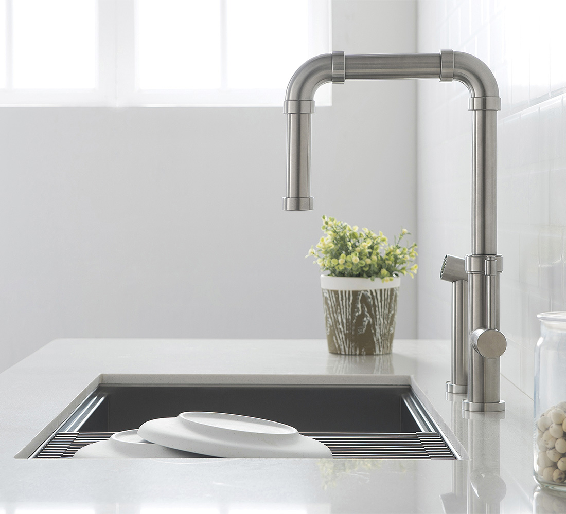 Tanz faucet from Isenberg plain stainless steal