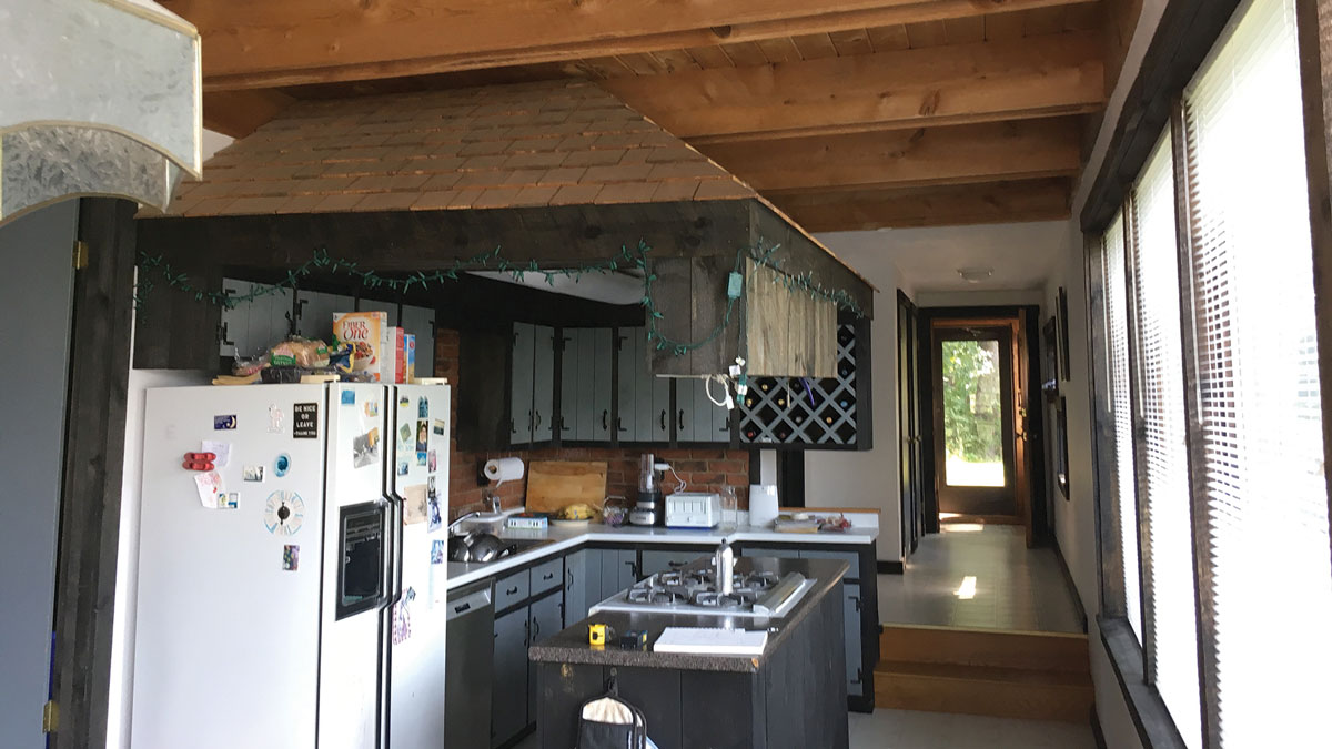 before photo of the 1970s kitchen