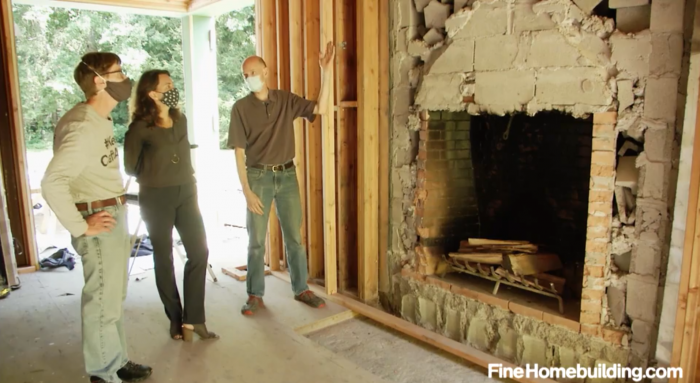 how to install a fireplace in a passive house