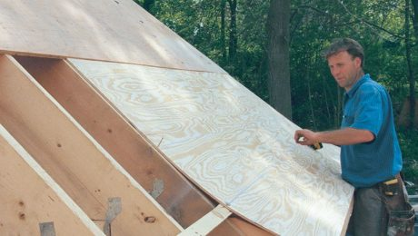 how to install roof sheathing