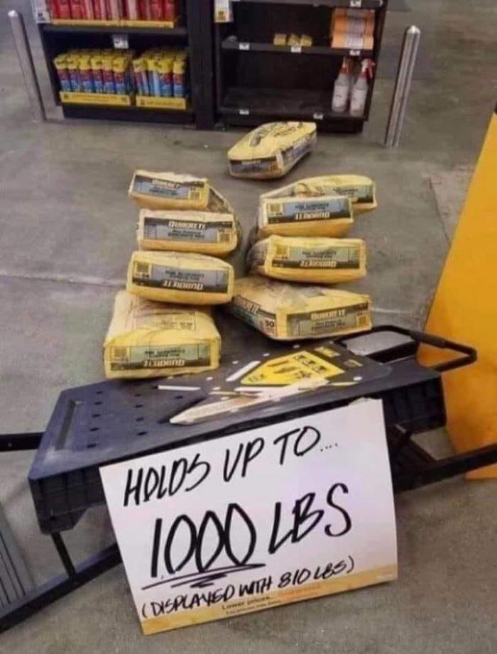 1000-pound capacity?