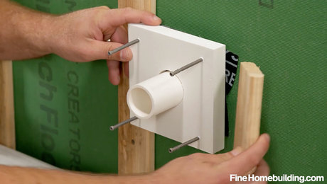 how to install PVC blocking for plumbing and electric fixtures