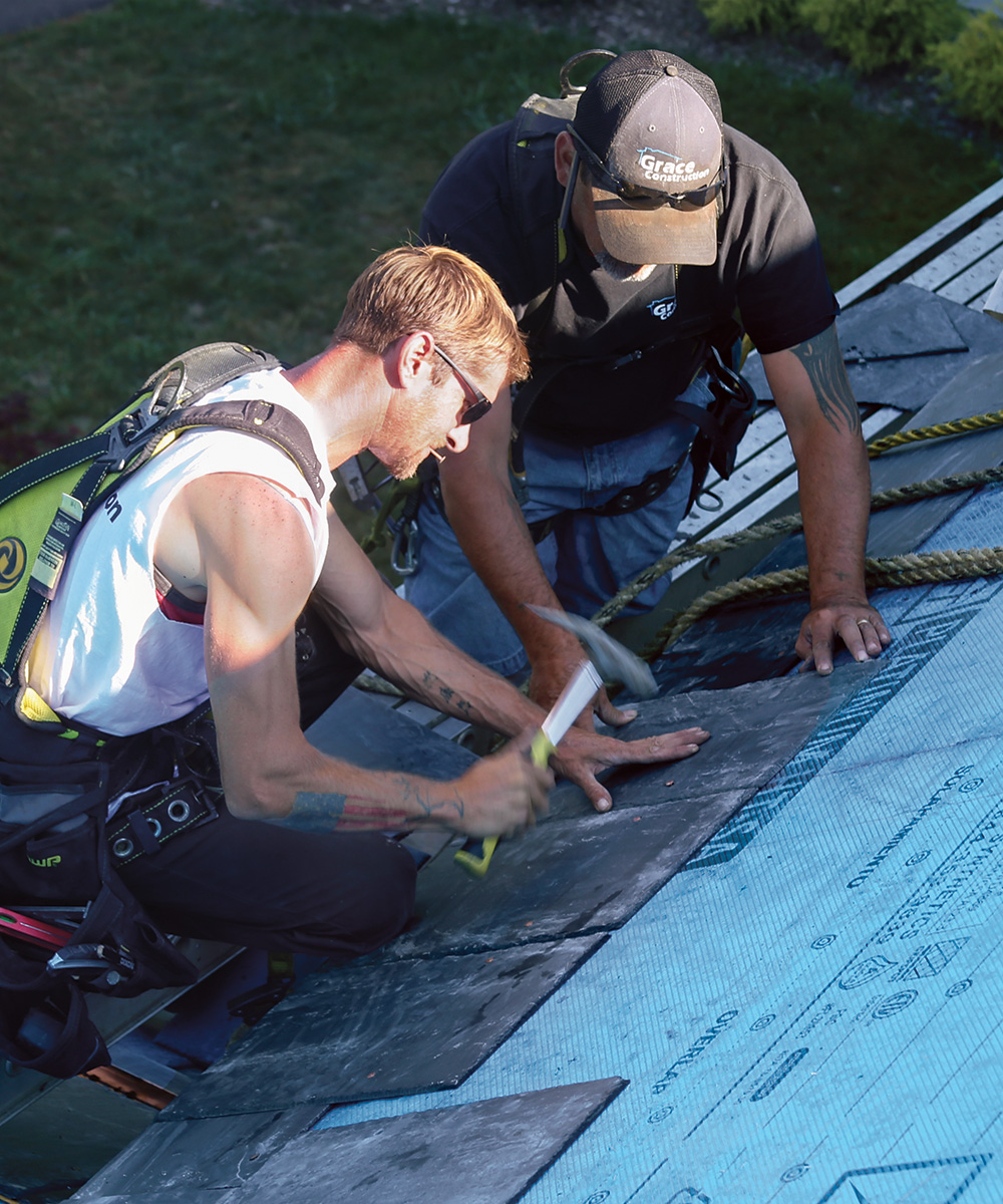 starting a slate roof